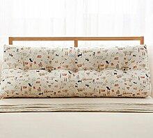 Baumwolle und Leinen Dreieck Kissen Bett Kissen Double Bedside Soft Package ( Farbe : 7# , größe : 22*50*135cm )
