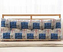 Baumwolle und Leinen Dreieck Kissen Bett Kissen Double Bedside Soft Package ( Farbe : 4# , größe : 22*50*150cm )