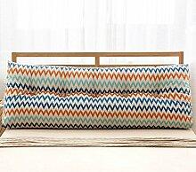 Baumwolle und Leinen Dreieck Kissen Bett Kissen Double Bedside Soft Package ( Farbe : 2# , größe : 22*50*120cm )