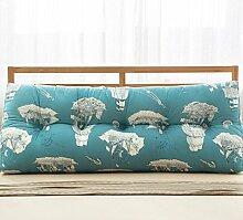Baumwolle und Leinen Dreieck Kissen Bett Kissen Double Bedside Soft Package ( Farbe : 5# , größe : 22*50*120cm )