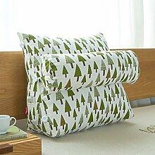 Baumwolle und Leinen Dreieck Kopf große Kissen Bett Soft Bag Büro Sofa Kissen Taille Back Pad ( Farbe : 3# , größe : 22*55*60cm )