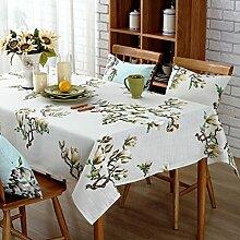 Baumwolle und leinen drucken tischtuch staub-proof cover tuch rechteckig oder runder tisch deckt möbel cover tuch-B 85x85cm(33x33inch)