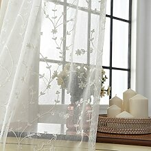 Baumwolle und leinen Gardine aus voile,