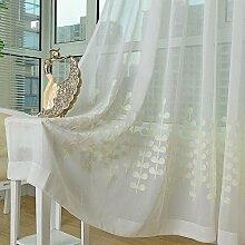 """Baumwolle und Leinen Jacquard, Landung Schlafzimmer, Fenster/Cutain , 2*(56W×110""""""""L)"""