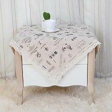 Baumwolle und Leinen Kreative Tuch Nachttisch-Abdeckung Multi-Funktions-Tischdecke (55 * 55cm, 80 * 80 cm) , 4 , 80x80