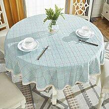 Baumwolle und leinen runde tischdecke