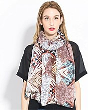 Baumwolle und Leinen Schal Schal alle-match Strand Sonnenschutz, 180 cm, B,