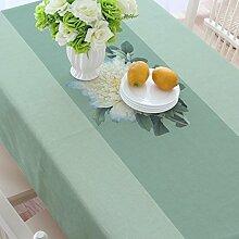 Baumwolle und Leinen Tisch, Tuch Tischdecken, quadratisch verdickt Restaurant Couchtisch Handtuch Tuch, Wohnzimmer Tischdecken , #2 , 110*170cm
