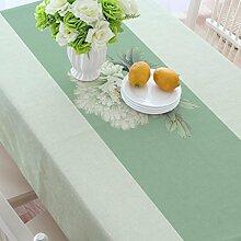 Baumwolle und Leinen Tisch, Tuch Tischdecken, quadratisch verdickt Restaurant Couchtisch Handtuch Tuch, Wohnzimmer Tischdecken , #1 , 110*110cm