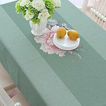 Baumwolle und Leinen Tisch, Tuch Tischdecken, quadratisch verdickt Restaurant Couchtisch Handtuch Tuch, Wohnzimmer Tischdecken , #3 , 140*180cm