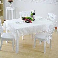 Baumwolle und leinen tischtuch spitze kante macrame möbel cover dekoration-B Durchmesser180cm(71inch)