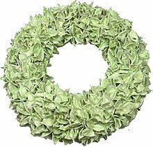 Baumwollfruchtkranz gewachst Dekoration, grün, 30 x 30 x 14 cm