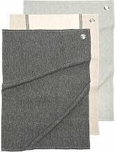 Baumwollgeschirrtücher in Schwarz, Grau und Taupe
