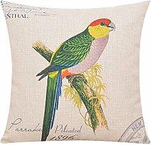 Baumwollkissen/Amerikanische Vogelkissen/Sofa/Büropolster/Gro?e pillowcase-A 45x45cm(18x18inch)VersionB