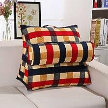 Baumwollkissen Dreieckiges Keilkissen Verstellbare Rückenlehne Bett Sofa Büro Lendenwirbelstütze (7 Farben erhältlich) ( Farbe : C , größe : 60*30*50cm )