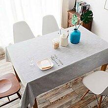 Baumwollleinen Einfarbige Tischdecke Rechteck,