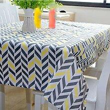 Baumwollleinen Tischdecke rechteckigen Hause