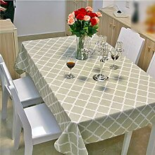 Baumwollleinen Tischdecke rechteckigen Tisch