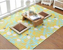 Baumwollmatten, Teppich rutschfest, Wohnzimmer Schlafzimmer Bett Matten, Tatami Matten, dünner Teppich , #5 , 50*150cm