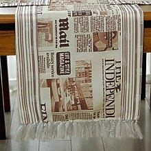 Baumwolltuch/Quaste/Kaffeetisch Flagge/Tisch Tischmatte/TV-Schrank Bett Flagge-A 6 Platzdeckchen