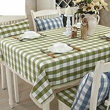 Baumwolltuch Reinigen Die Rechteckigen Garten Tischdecke,Moderne Minimalistische Tisch Tischdecke-A 180x180cm(71x71inch)