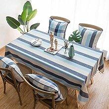 Baumwolltuch Tischdecke, Einfache Gestreifte
