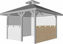 Bausatz Tresenwand 28 mm Natur für Pavillon