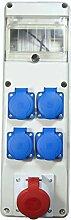 Baustromverteiler / Wandverteiler 1 x CEE 16A 4 x 230 V /16A verdrahte