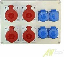 Baustromverteiler Wandverteiler 4 x CEE 16A/400V 4
