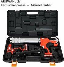BAUTEC AKKU-Kartuschenpresse + AKKU-Schrauber