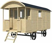 Bauwagen LÖWENZAHN 240 x 500cm Gartenhaus 19mm