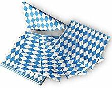 Bavariashop Bayerische Servietten 3-lagig mit Rauten, Bayerisches Design, Rautenmuster, 20 Stück pro Packung