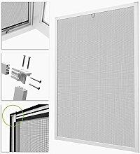 BawiTec Insektenschutz Fenster ProLine Alu weiß Bausatz Fliegengitter Spannrahmen 100x120cm 130x150cm (130x150cm)