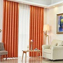 Bay Fenster Orange Vorhang/Einfache moderne Schlafzimmer mit Balkon-A 400x273cm(157x107inch)