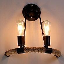 BAYCHEER Loft Vintage-Seil Deckenleuchte Antik