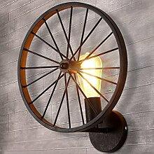BAYCHEER Retro Industry Design Rad Wandleuchte im