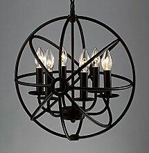 BAYCHEER Schmiedeeisen Globe Hängeleuchte Käfig