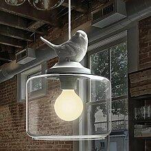 BAYCHEER Vogel Hängeleuchte Industrielampe E27