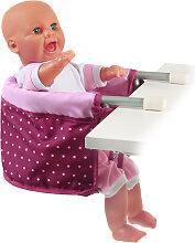 Bayer Chic 2000 Puppen-Tischsitz (Dots Brombeere)
