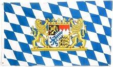 Bayerische Überprüfen Flagge mit Löwe, 3x 5Fuß