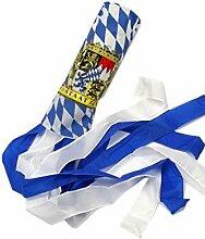Bayerischer Windsack, Gartendeko, Weiß-Blau, Bayerisches Wappen,,15 cm x 160 cm, UV-beständig, Wetterfes