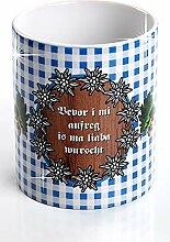 Bayerisches Kaffeehaferl - Bevor i mi aufreg is ma