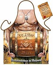 Bayern/Motiv/Themen-Schürze/Grill/Kochschürze witzige Motive: Bodybuilding in Bayern - Geschenkidee inkl. Spaß-Urkunde