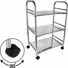 BAYLI 3-Etagen Küchenwagen | Servierwagen |