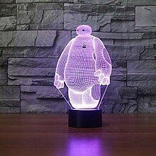 Baymax 3D Lampe 7 Farbe LED Nachtlampen für