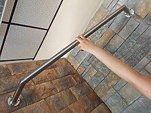 Bayram® 140 cm Edelstahl Garderobenstange