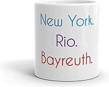 Bayreuth Becher | Tasse mit lustigem Spruch: New
