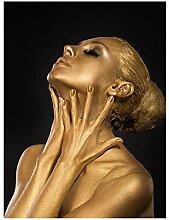 BAYUE Gold Schwarz Nude Afrikanische Kunst Frau