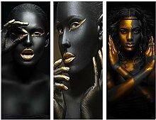 BAYUE Schwarze und Gold African Nackte Frau