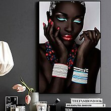 BAYUE Sexy Black Nude afrikanische Frau Lippen und